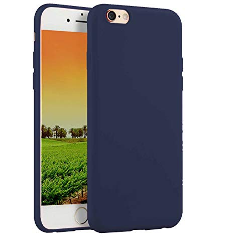 Compatible with iPhone 6 / 6s 4.7-Inch Case, Thin Slim Fit Soft TPU Rubber Bumper Shell Anti-Scratch Resistant Shockproof Protective Mobile Phone Cover for Girls Women Man Boys,Dark Blue