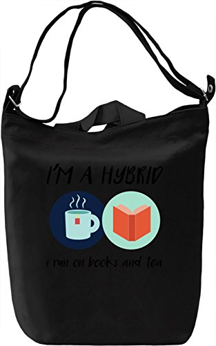 I'm a hybrid Borsa Giornaliera Canvas Canvas Day Bag| 100% Premium Cotton Canvas| DTG Printing|