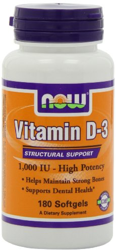 NOW Foods Vitamin D-3 1000 IU, 180 Softgels