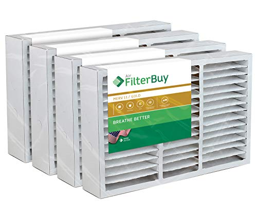 (FilterBuy 16x25x5 Amana Goodman Coleman York FS1625 Compatible Pleated AC Furnace Air Filters (MERV 11, AFB Gold). Replaces Totaline P102-1625, Day and Night MACPAK16 and more. 4 Pack.)