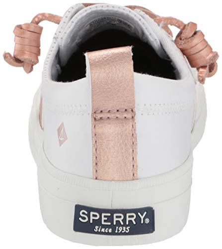 Sperry womens Crest Vibe Sneaker, White/Blush, 5 US