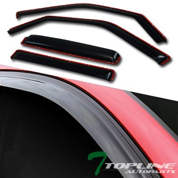 Vent Ford Expedition - Topline Autopart In Channel Smoke Window Visors Deflector Vent Shade Guard 4 Pieces For 97-14 Ford Expedition ; Lincoln Navigator