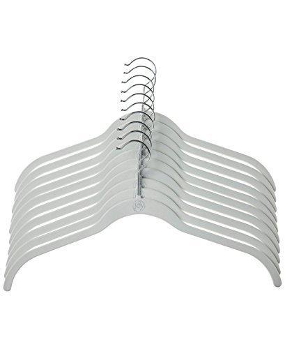 Joy Mangano 10-Pc. Huggable Hanger Set for Shirts … (White)