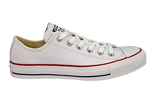 Converse Unisex Chuck Taylor Leather White Sneaker - 6 Men - 8 Women