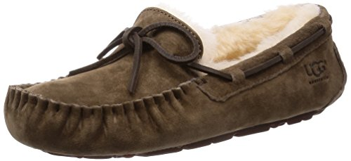 UGG Women's Dakota Dry Leaf Suede Slipper 7 B (M) (Cozy Ugg Footwear)