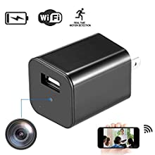 WiFi Mini Hidden Spy Camera 1080P HD Motion Detection Charger Camera Wireless Home USB Security Camera with Charger WiFi Hidden Charger Camera Nanny Cam Live Feed Remote Control with App