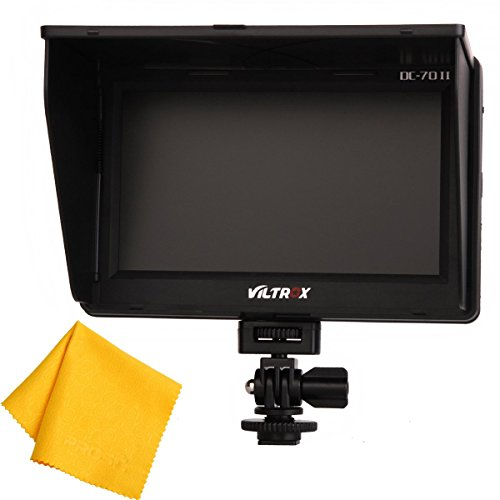 PROST Viltrox DC-70 II (Upgraded Version) Clip-on Color 7'' TFT LCD HD Monitor HDMI AV Input 1024*600 for Sony,Canon,Nikon DSLR Camera Camcorder by Prost