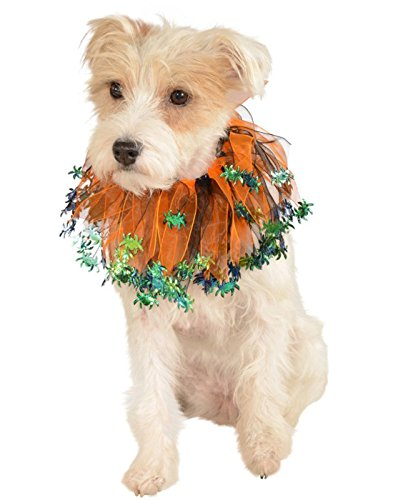 [Rubie's Halloween Black and Orange Spiders Pet Collar, Large - Extra Large] (Large Dog Spider Halloween Costume)