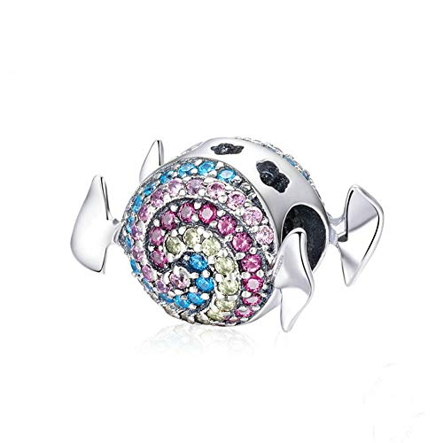 Beauty Rainbow Candy Charm 925 Sterling Silver Crystal