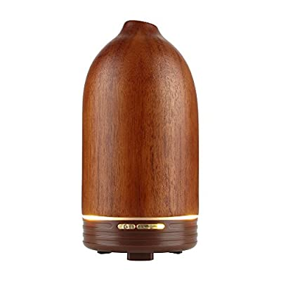 Joly Joy Real Wood Essential Oil Diffuser 100ml, Ultrasonic Aroma Scent Diffusers Air Purifier, Wooden Aromatherapy Humidifier For Home Small Room Kitchen Bedroom Sparoom