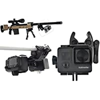 Sportmans Mount for GoPro Gun Mount for Rifle Hunting Paintball Fishing Bow Shotgun Rail Pole Clamp Clip Stabilizer Camera Mount for Go Pro Hero Hero2 Hero3 Hero3+ Hero4 Session (Black) By SublimeWare