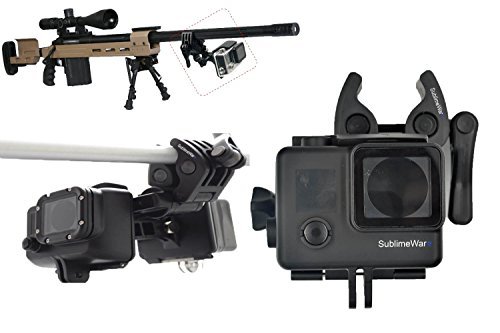 Sportmans Mount for GoPro Hero 5 / 6 / 3 / 3+ / 4 / 4+ The Frame Session Gun Mount for Rifle Hunting Paintball Fishing Bow Shotgun Rail Pole Clamp Clip Stabilizer Camera Mount for by SublimeWare