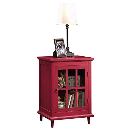 Sauder Barrister Lane Side Table, L: 18.90'' x W: 15.75'' x H: 27.01'', Berry Red finish by Sauder