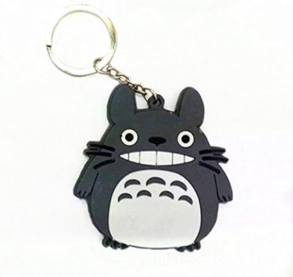Mi vecino gris Totoro, llavero de vinilo con colgantes de ...