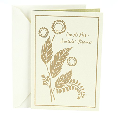 Flowers Sympathy Card (Hallmark Vida Spanish Sympathy Greeting Card (Foil)