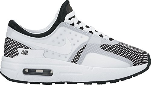 - NIKE Kids Air Max Zero Essential GS Running Shoe (2 M US Big Kid, Black/White-Wolf Grey)