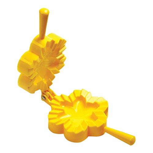 Norpro 1039 Flower Dough and Dumpling Press, Yellow