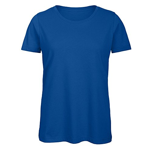 B&C - Camiseta de manga corta de algodón orgánico modelo Favourite para mujer (Mediana (M)/Azul )