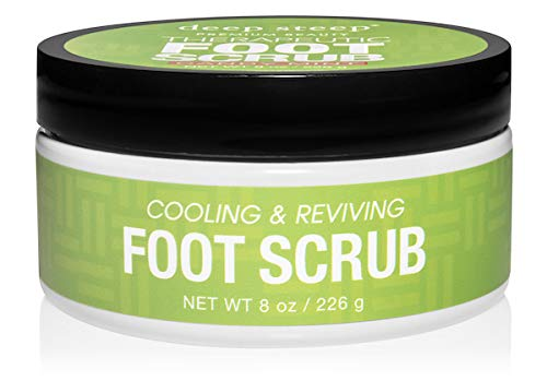 (Deep Steep Natural Candy Mint Therapeutic Foot Scrub - 8 Ounce)
