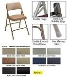 Folding Chair, Vinyl, 29-1/2in H, Black, PK4