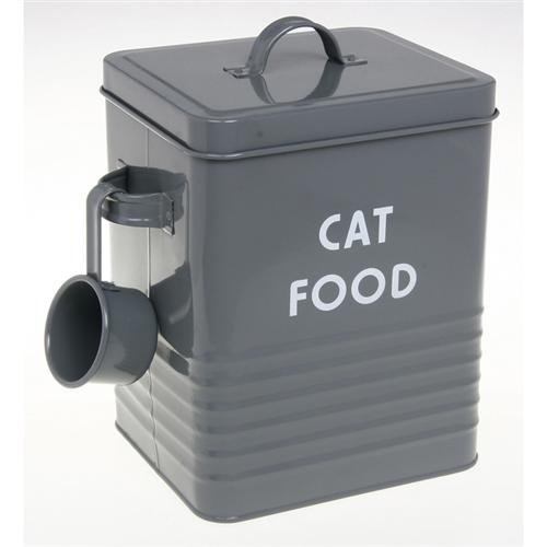 Lovely Vintage Style Retro Cat Food Tin With Scoop   Ideal For Storing Dried Pet  Foods, Treats Or Pouches (slate Finish): Amazon.co.uk: Pet Supplies