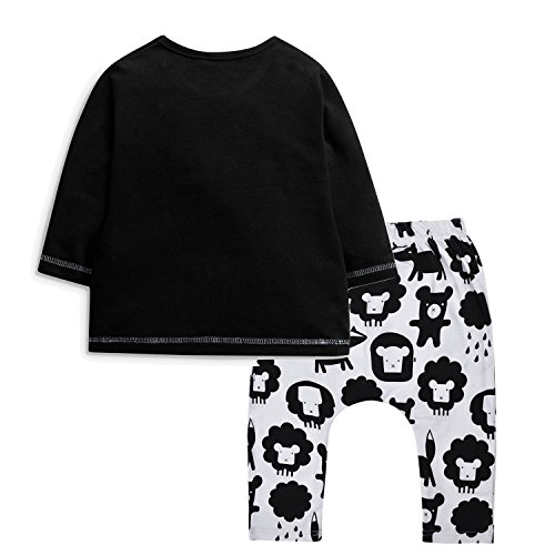 Minilove Baby Boys Clothing Set Embroidered Sheep Top Printing Pant With Hat
