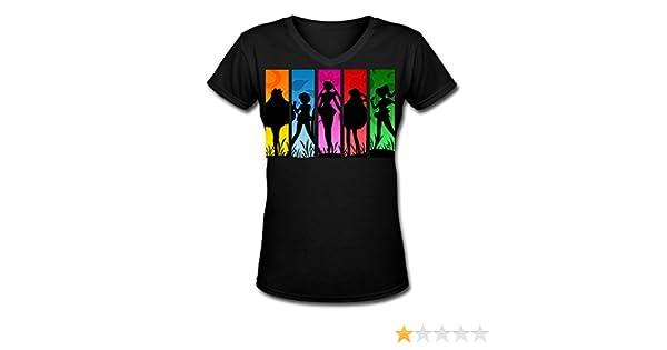 5449ff490 Amazon.com: 2016 Newest Sailor Moon V-neck Cotton T Shirt Joker For Woman:  Clothing