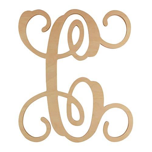 - 48 Hour Monogram Choose Your Letter and Size! - Single Vine Unfinished Letter (C, 16)