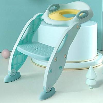 KUANDARYJ Aseo Escalera Asiento Escalera de Niños, Adaptador WC para Niños con Escalera Antideslizante Asiento de Entrenamiento de Inodoro Ajustable y Plegable, Green: Amazon.es: Deportes y aire libre