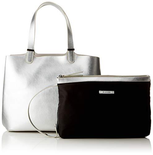 b Pcmadison X Pieces T Borse A H Cm silver Grigio Shopper Spalla Donna 17x27x30 vgqgxwdA