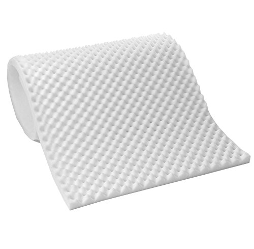 Sweet Home Collection 1/2'' Lightweight Textured Eggcrate Foam Mattress Topper Pad, Queen by Sweet Home Collection