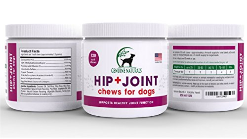 Genuine Naturals™ Glucosamine Chondroitin, MSM, Organic Turmeric Soft Chews by, Hip and Joint Supplement for Dogs, Supports Healthy Joint Function and Helps With Pain Relief, 120-Count by Genuine NaturalsTM (Image #5)