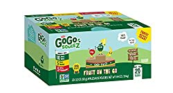 Gogo Squeez Applesauce Go, Variety Pack (Apple Appleapple Bananaapple Strawberry), 3.2 Ounce Portable Bpa-free Pouches, Gluten-free, 20 Total Pouches