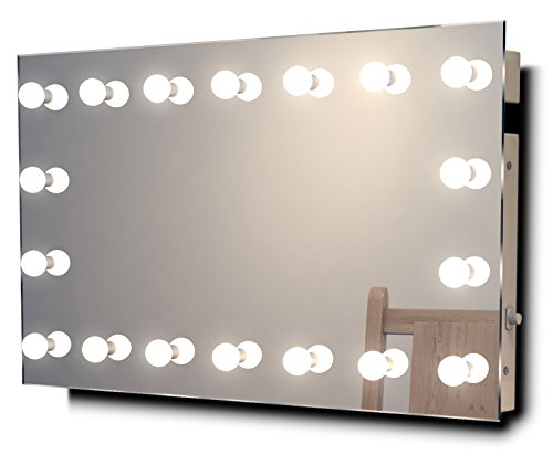 Collection Soap Wall Mount (DIAMOND X COLLECTION Diamond X Wallmount Hollywood Makeup Mirror with Dimmable LED k413WW)