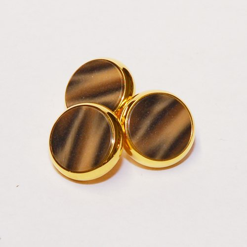 YAMAHA XENO Trumpet Finger Buttons Set of 3 24K Gold Plated with Mochachino Custom Inlay