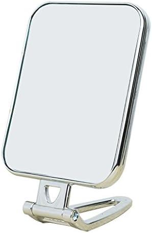 ミラー、360°回転両面バニティミラー、手持ち式バニティミラー、壁掛け可能、スタンド付き (色 : B)