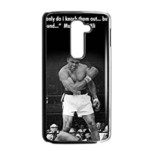 Top Sale Muhammad Ali-Haj Quote Not Only do I knock Them Out But I Pick the Around Popular Hard Plastic Cover Case (HD Image) For LG G2 (Fit for AT&T)