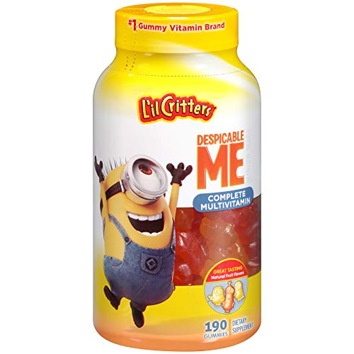 L'il Critters Despicable Me Minion Made Complete Multivitamin Gummies, 190ct