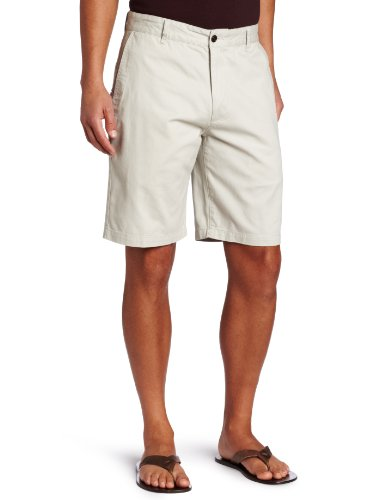 Pleated Front Classic Dress Shorts - Dockers Men's Classic Fit Perfect Short Cotton D3, Porcelain Khaki, 36W