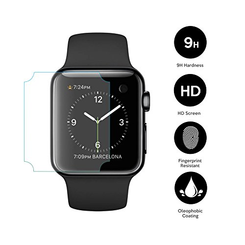 EXINOZ Apple Watch Screen Protector I Protection with 1-Year Replacement Warranty I Get the Best for Your Apple Smart Watch (42mm 2 Pack) by EXINOZ (Image #1)