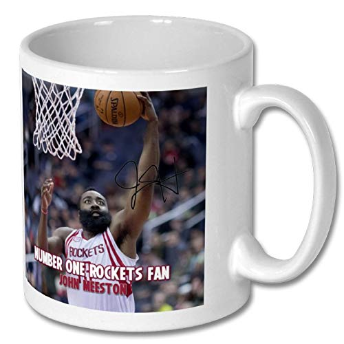 - Star Prints UK James Harden - Houston Rockets - NBA 1 Personalised Gift Mug Coffee Tea Drink Cup Autograph Print (with Personalised Message)