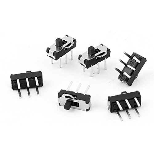 Uxcell a15062200ux0753 2 Position DPDT 2P2T 6 Pin PCB Panel Mini Vertical Slide Switch, 6 Piece