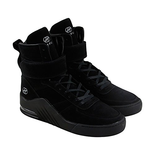 Radii Apex Men's Pigskin Microfiber High Top Sneaker Shoes Eclipse Size (Black Eclipse Casual Shoes)