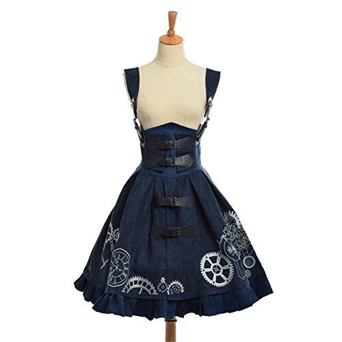 Ruby Groo Beautiful Elegant Gothic Steampunk Dress Vintage Victorian Period BrownL (Period Dress)