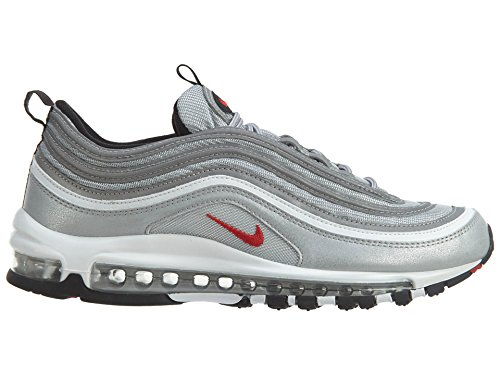 grey uomo red metallci silver 002 varsity Air wolf 97 Nike 001 Sneaker grey cool EU Max 44 x4ZYWqT