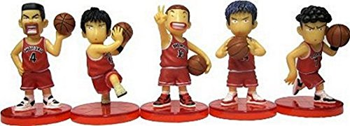 5-Piece SLAM DUNK Series Mini Cartoon Figure Collection Display Toy Set