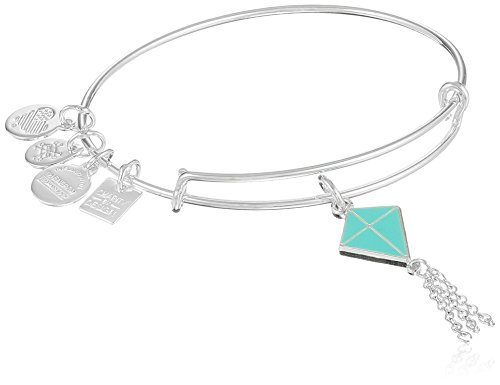 Alex and Ani Charity By Design Inspiration In Flight Shiny Silver/Blue Bangle Bracelet