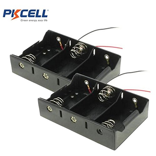 3 Slot D Cell Battery Holder With Two Wires (2)