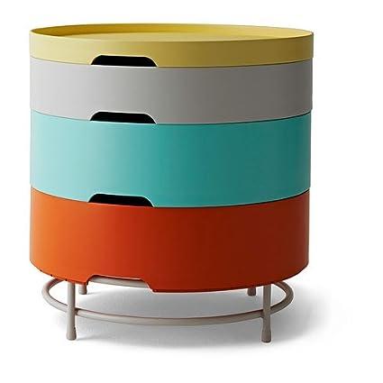 Plata de ley contemporáneo mesa de almacenaje (Multi Color Bandejas de)-Stack/