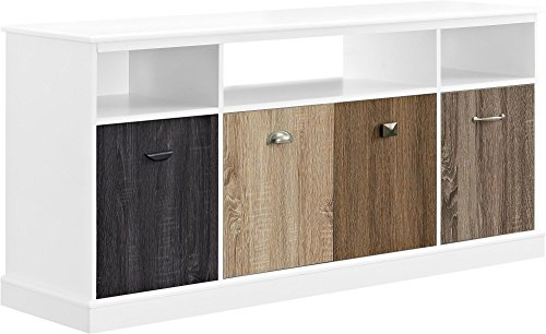 Ameriwood Home Mercer TV Console with Multicolored Door Fronts for TVs up to 60